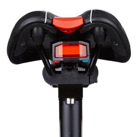 A3 Wireless Anti-theft Taillight Wireless Remote Control Electric Bell Bicycle COB Highlight Warning USB Charging Light - BLACK