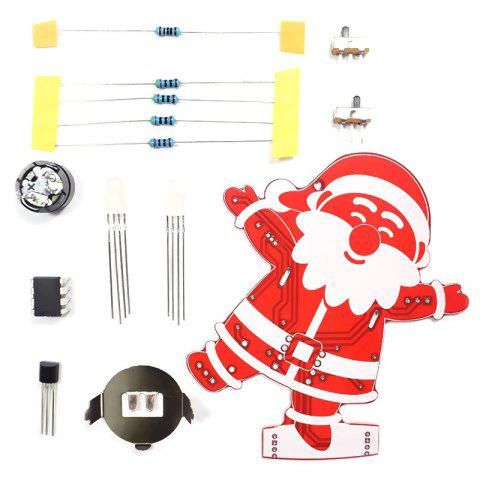 DIY Santa Claus Christmas Decoration Ornament Music Kit - RED