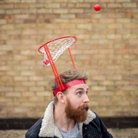 Creative Head Basketball Game Leisure Office Treatment Cervical Spine Toy - VALENTINE RED