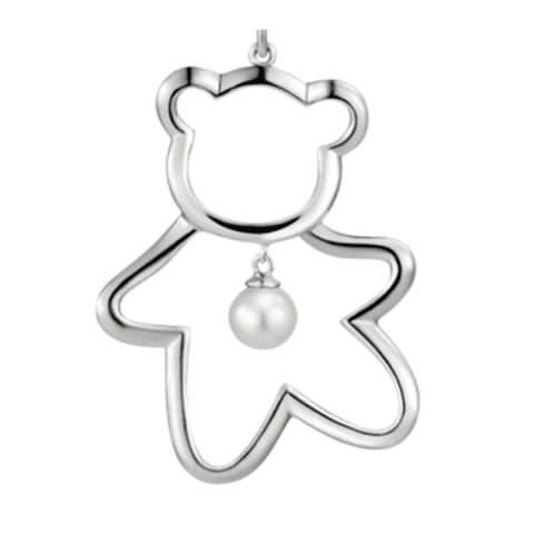 Xiaomi Youpin LUCKYME Cute Bear 925 Silver Inlaid Pearl Jewelry - SILVER SWEATER CHAIN