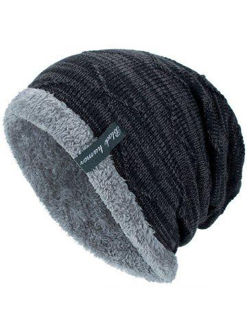 46c22662f5a Tide Knit Wool Winter Plus Velvet Warm Hook Head Men s Outdoor Cap