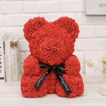 Creative Handmade Rose Bear Eternal Soap Flower Valentine's Day Christmas Gift