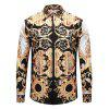 Men's Shirt Casual Personality 3D Long - CHAMPAGNE GOLD L