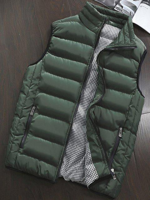 Men's Thickening Slim Jacket Down Cotton Warm Casual Vest - ARMY GREEN M