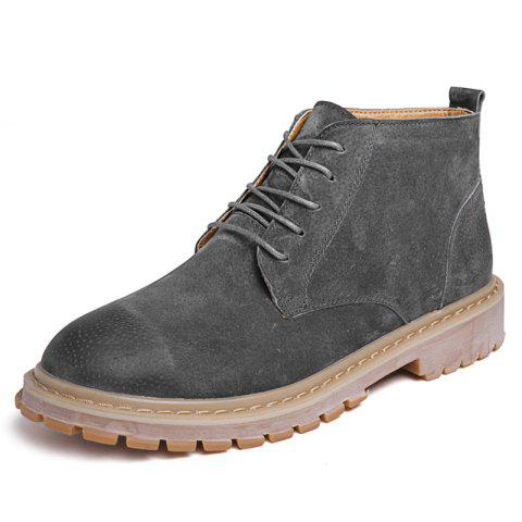 Men Leisure High-top Boots Comfortable - GRAY EU 42