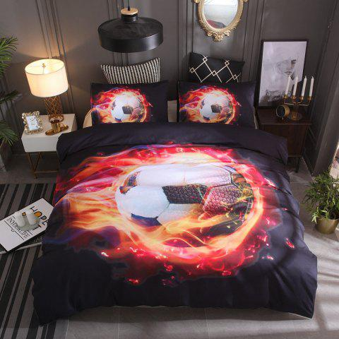 Quilted Pillowcase Sports Series World Cup Football Home Textile Bedding - RED QUEEN