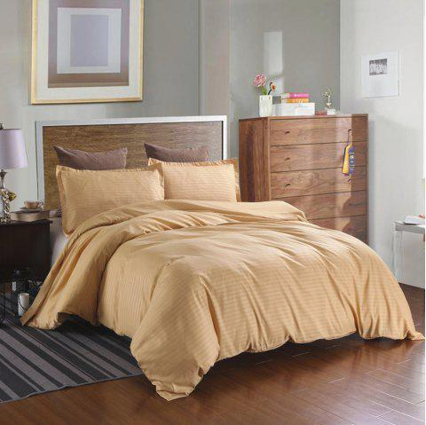 Three-piece Solid Color Bedding Set for Home Hotel - GOLD KING
