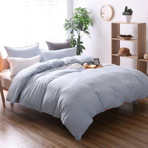 Washed Cotton Solid Color Soft Comfortable Bedding Home Textile 3pcs - GRAY GOOSE KING