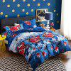 Christmas Joy Santa Happy Gifts Foreign Trade 3D Bed Home Furnishing Bedding 3pcs - RED KING