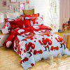 Christmas Joy Santa Happy Gifts Foreign Trade 3D Bed Home Furnishing Bedding 3pcs - BLUE QUEEN