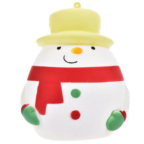Simulation Snowman Shape Decompression Squeeze Toy - YELLOW
