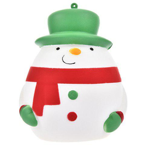 Simulation Snowman Shape Decompression Squeeze Toy - GREEN