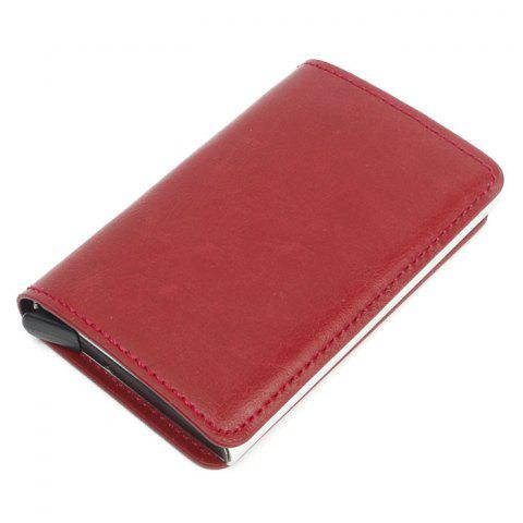 Automatic Card Package Antimagnetic Aluminum Alloy - RED WINE
