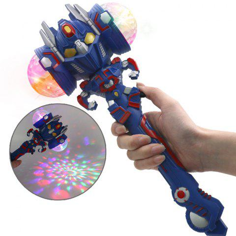 Robot Projection Magic Stick Colorful Flash Electric Music Light Shiny Toy - BLUE