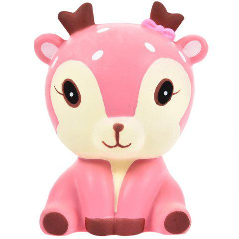 Simulation Deer Shape Decompression Squeeze Toy - PINK