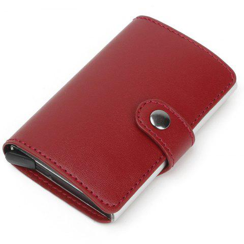 Anti-magnetic Card Package Automatic Aluminum - RED WINE