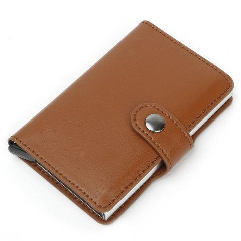 Anti-magnetic Card Package Automatic Aluminum - LIGHT BROWN