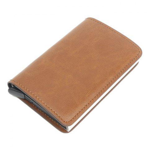 Automatic Card Package Antimagnetic Aluminum Alloy - LIGHT BROWN