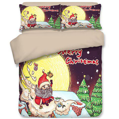 2019 3d Home Textiles Christmas Happy Santa Gift Quilted Pillow Case