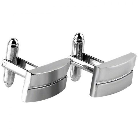 Men's Cufflinks Alloy Plating Fashion 2pcs - SILVER