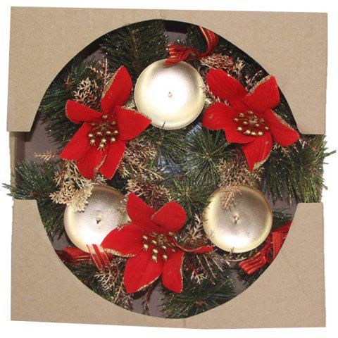 Christmas Decoration Candle Holder Wreath - multicolor A 03