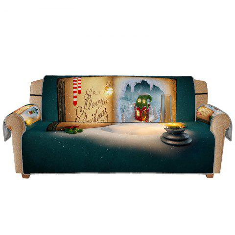 3D Digital Printed Christmas Book Pattern Sofa Cushion - multicolor A MANY PEOPLE