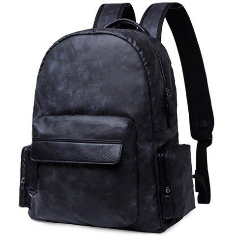 Men's Backpack Fashion Trend Oxford Cloth Leisure Large Capacity - BLACK