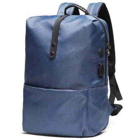 Men's Backpack Outdoor Fashion Casual Youth - BLUE