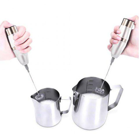 Stainless Steel Electric Milk Bubbler Mini Electric Hand Mixer - CHAMPAGNE
