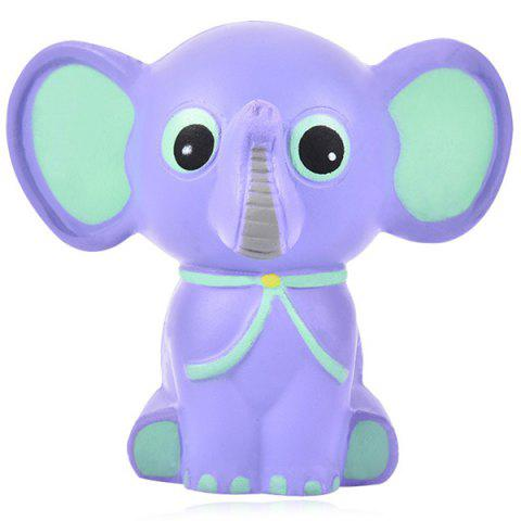 Slow Rebound Toy Big Ear Small Elephant PU Squeeze Novelty Simulation Children Educational Decompression - PURPLE