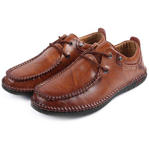 Men's Oxford Shoes Wild Casual Soft - BROWN EU 42