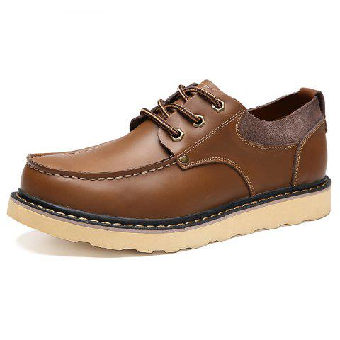 Men's Oxford Shoes Casual Soft Fashion - LIGHT BROWN EU 39