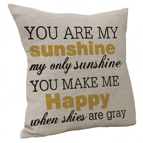 English Letter Cushion Cover - WARM WHITE