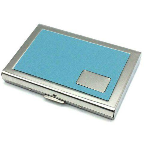 Men Multi-function Card Holder Credit Card Box - BABY BLUE
