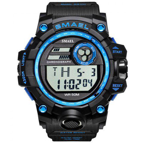 SMAEL 1545 Outdoor Sports Waterproof And Shockproof Single Display Men Sports Watch With Box - BLUE