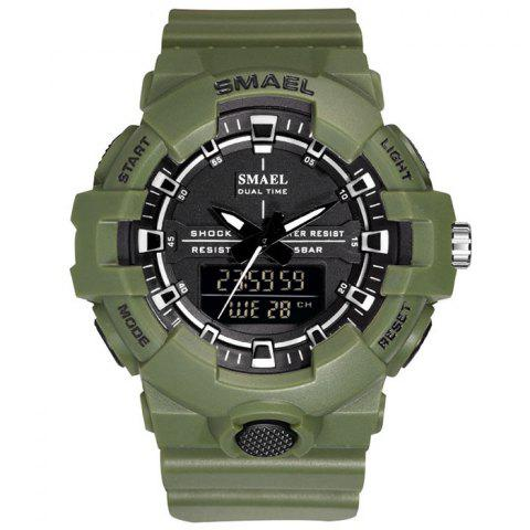 SMAEL 1642B Waterproof Quartz Multi-function Men's Street Trend Electronic Watch - ARMY GREEN