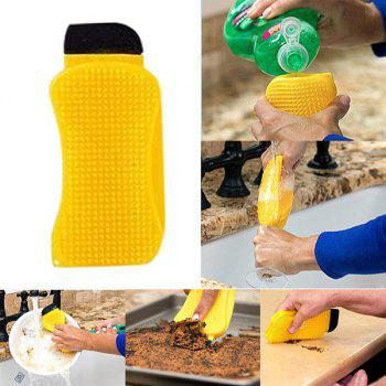 3-in-1 Silicone Dish Brush Washing Scrubber Kitchen Cleaning Tool