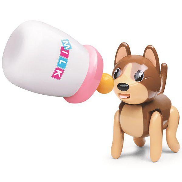 Cute Pet Education Electronic Induction Toys Set - BROWN