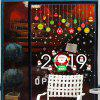 496 Christmas New Year Wall Stickers Cartoon Colorful Christmas Balls Glass Window Wall Stickers - GREEN