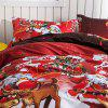 Christmas Joy Santa Happy Gifts 3D Bed Home Furnishing Bedding 3pcs - RED KING