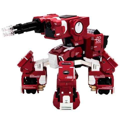 Smart Battle Armored AI Robot App Control Vision Recognition Toys - RED