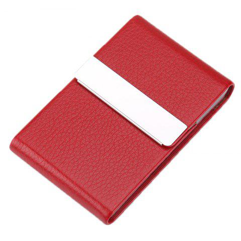 Men Business Durable Classic Card Case - RED