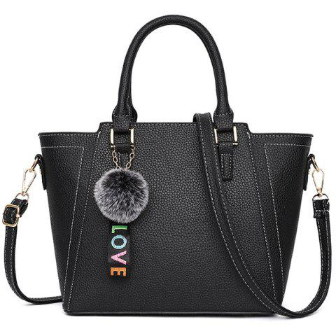 Fashion Women's Simple Handbag - BLACK