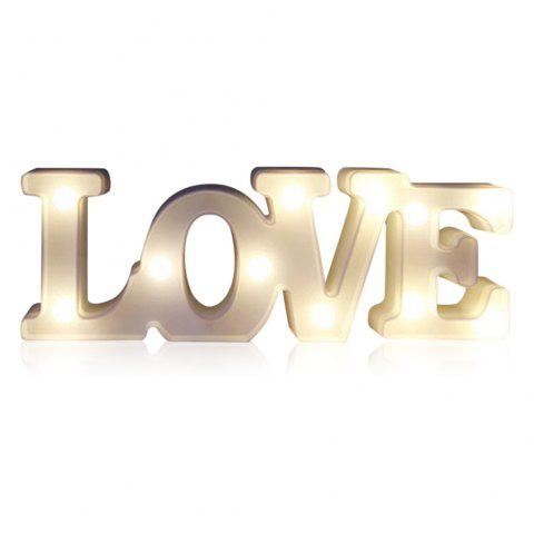 YEDUO Romantic Small White LOVE Marquee Sign Night Lights For Home Wedding Decoration Valentine Gift - WHITE