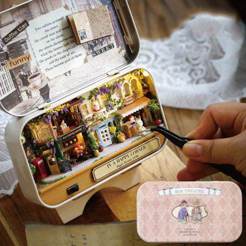 DIY Theatre Dollhouse Miniature Tin Box Decor Gift - FLAMINGO PINK