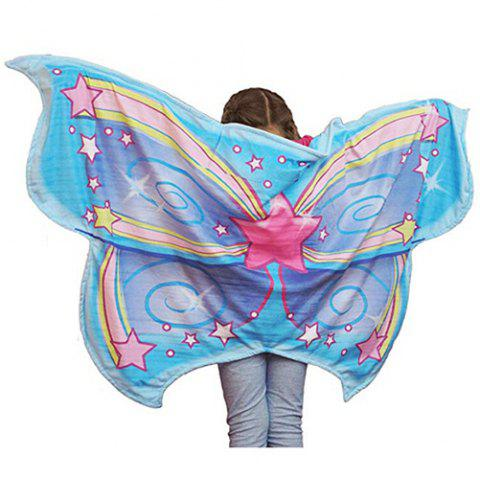 Dream Butterfly Wing Shawl Colorful Blanket Scarf Toy - multicolor A FAIRY