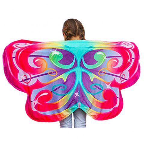 Dream Butterfly Wing Shawl Colorful Blanket Scarf Toy - multicolor A RAINBOW BUTTERFLIES