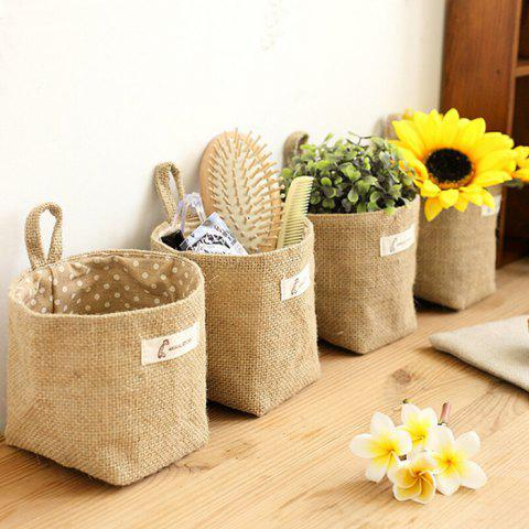Double-sided Ear Cotton Linen Hanging Bag - 002