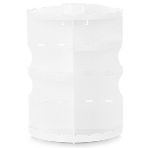 Round Tabletop Rotating Cosmetics Rack - WHITE