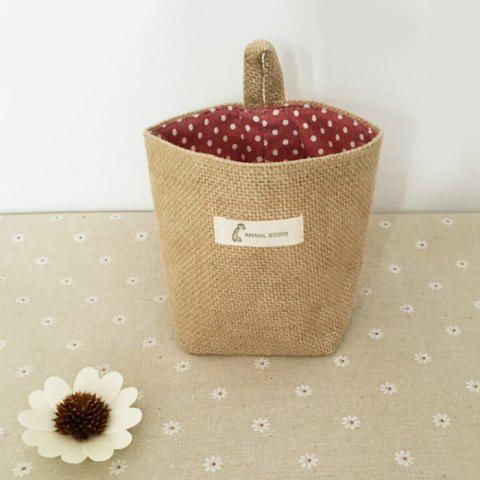 Double-sided Ear Cotton Linen Hanging Bag - 003